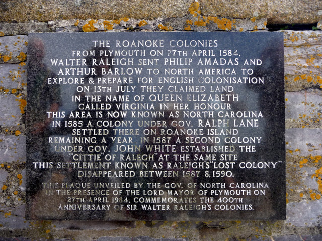 Plaque, Plymouth Harbour Wall, Devon