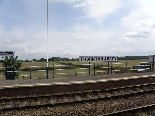 Thornton  Abbey  Station  toward  Abbey