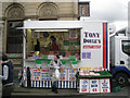 SJ8990 : Butcher's stall, Saturday market, Stockport by Robin Stott
