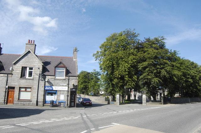 Suburban corner, Inverurie