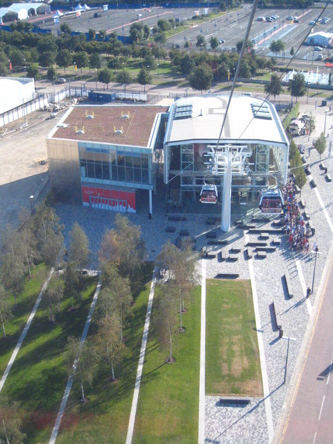 The Greenwich cable car station on the Emirates Air-Line