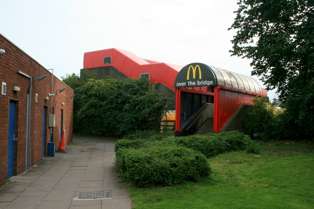 A Mcdonald's footbridge make-over