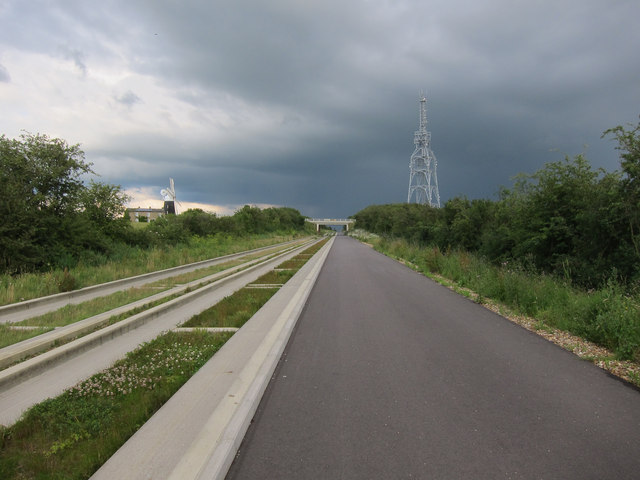 Guided busway through Over Cutting