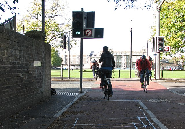 Cyclists crossing Gonville Place