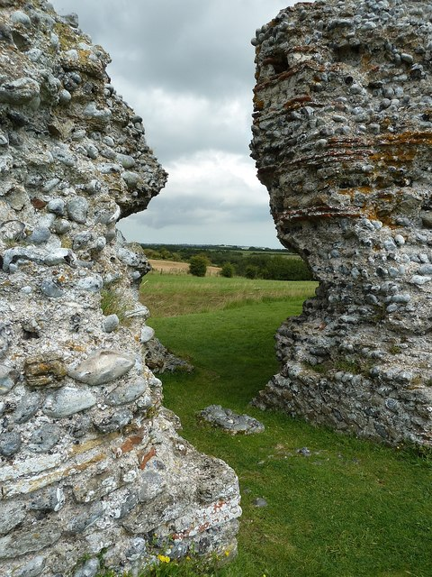 Richborough Castle Roman Fort - North (postern) gate