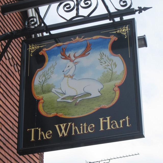 The White Hart sign