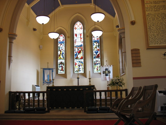 The East Window of St Andrew's church, Thursby