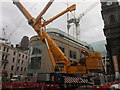 SE3033 : A mobile crane on Boar Lane, Leeds : Week 34