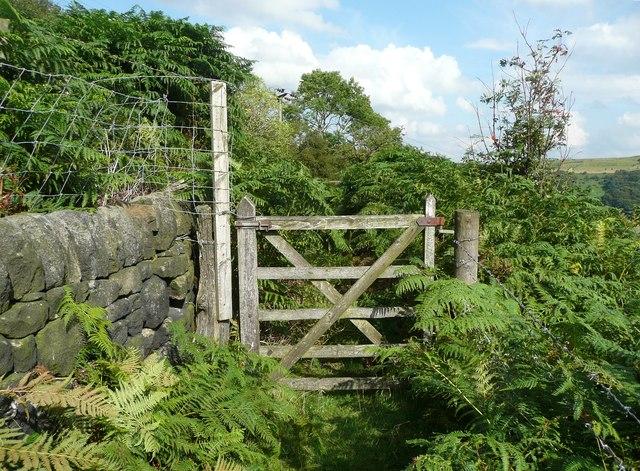 Gate on Hebden Royd FP 68