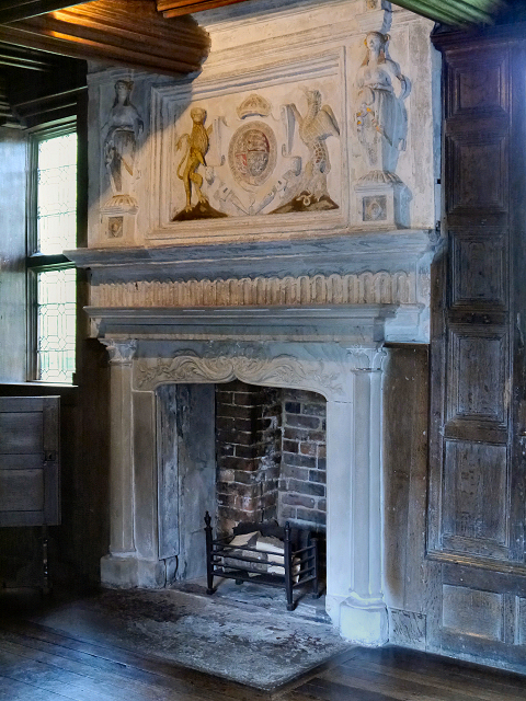 The Fireplace in the Great Parlour, Little Moreton Hall.