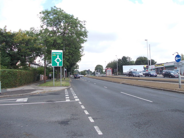 Scott Hall Road - viewed from Miles Hill View