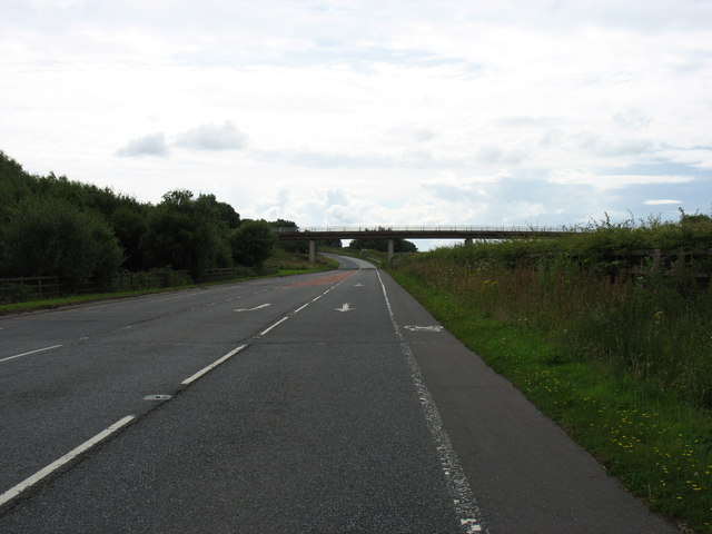 The B7076 (the former A74), heading south