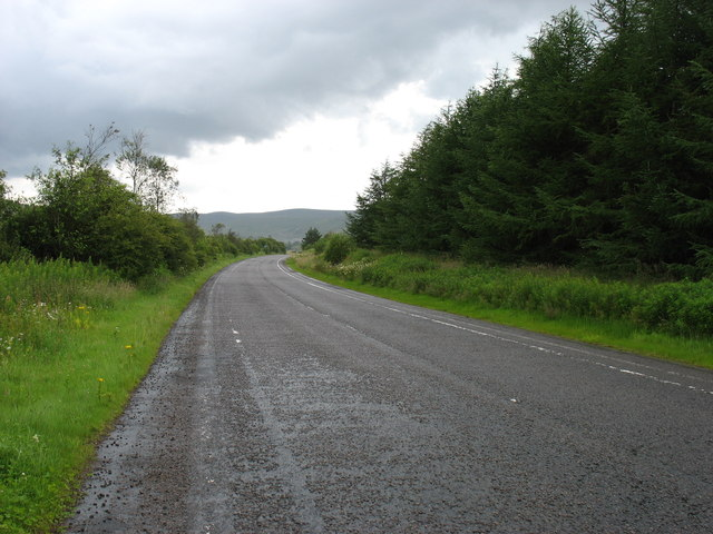 The B7076 (former A74), heading north