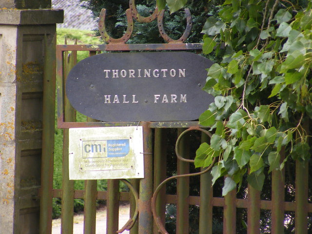 Thorington Hall Farm sign