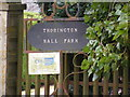 TM4071 : Thorington Hall Farm sign by Adrian Cable