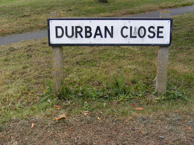 Durban Close sign