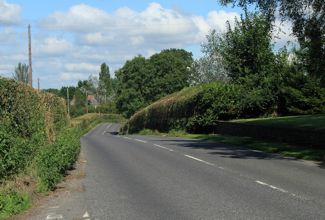 2012 :  A368 approaching Bishop Sutton