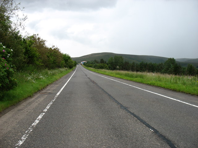 The A702 near Crawford