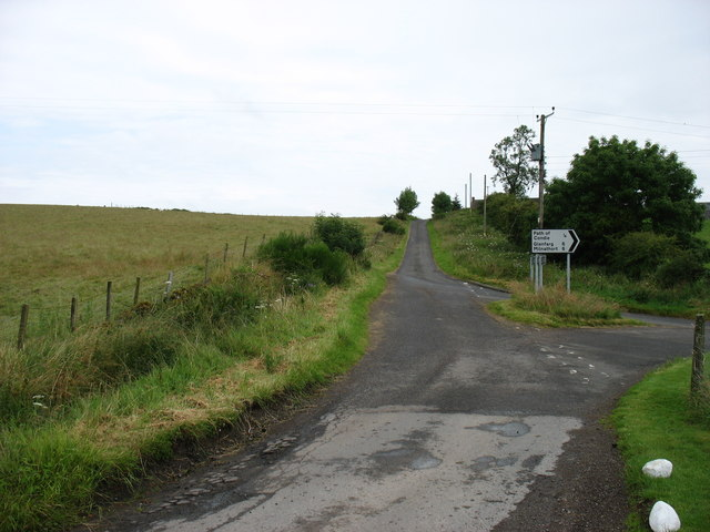 Road junction at Condie