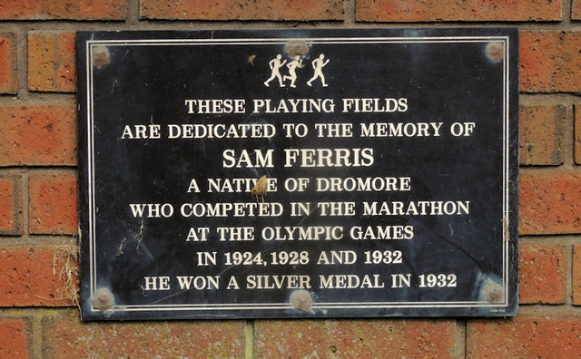 Sam Ferris plaque, Dromore