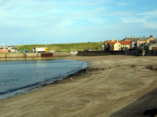 The beach at Eyemouth in Berwickshire