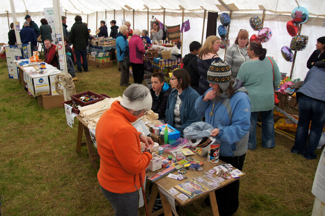 Inside one of the tents at the Unst show 2012