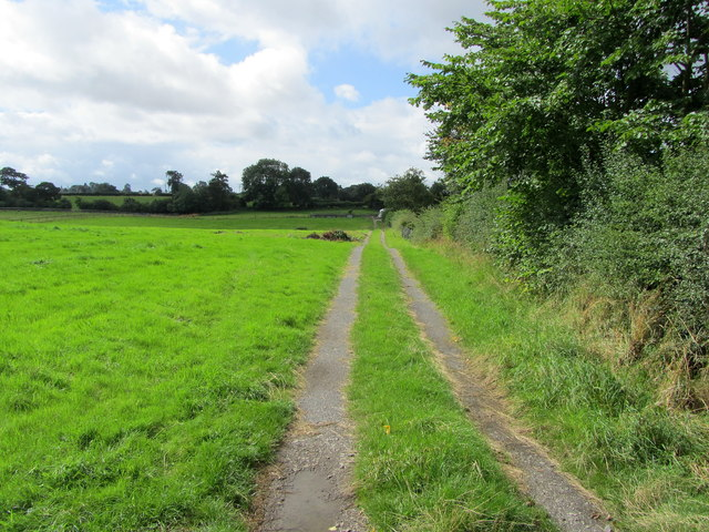 Track beside Church Farm Caravan Park