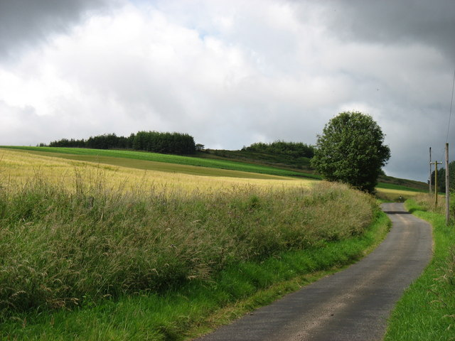 Berry Hill and the road to Glack