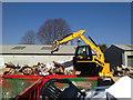 SP3065 : New JCB at Prince's Drive tip by Robin Stott