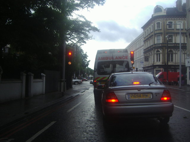 Fulham Road at the junction of Redcliffe Gardens