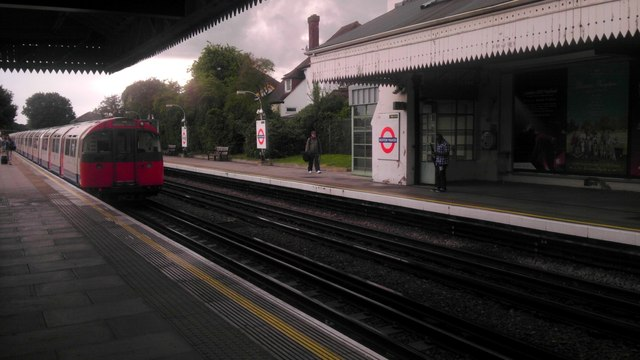 London Underground Train Leaving Boston 169 Paul Farmer