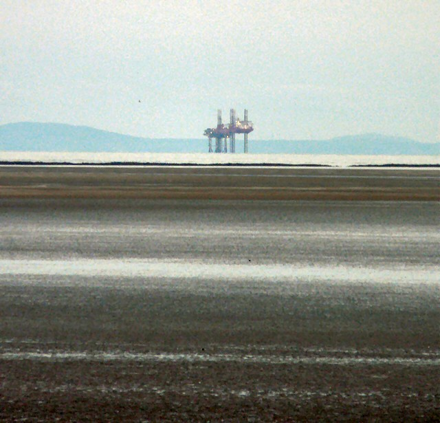 Gas platform off the Fylde Coast