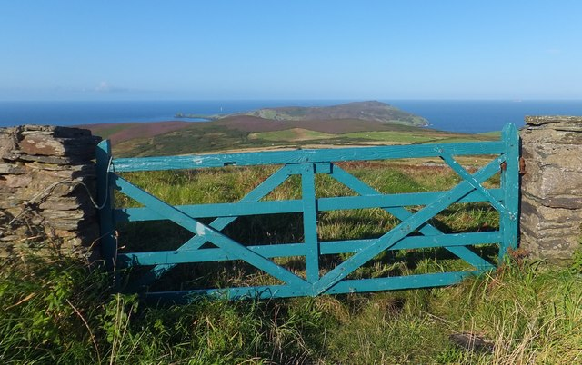 Green gate above Calf of Man