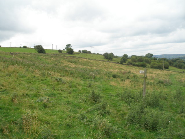 Limestone Way junction west of Luntor Rocks