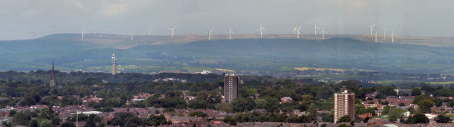 Scout Moor Wind Farm (Viewed from Manchester)