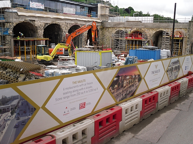 Working on The Vaults at Bath Spa Station