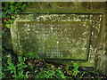 NS6065 : Old boundary stone by Lairich Rig