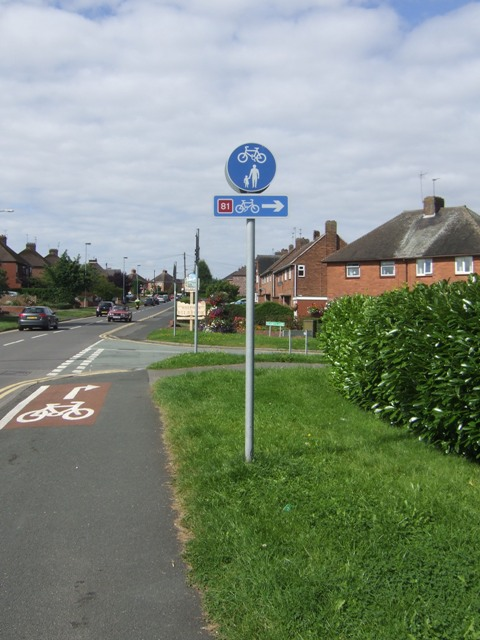 National Cycle Route 81 entering Bilbrook (at Joey's Lane)