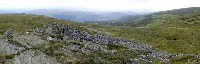 Panorama from Bellyside Crag