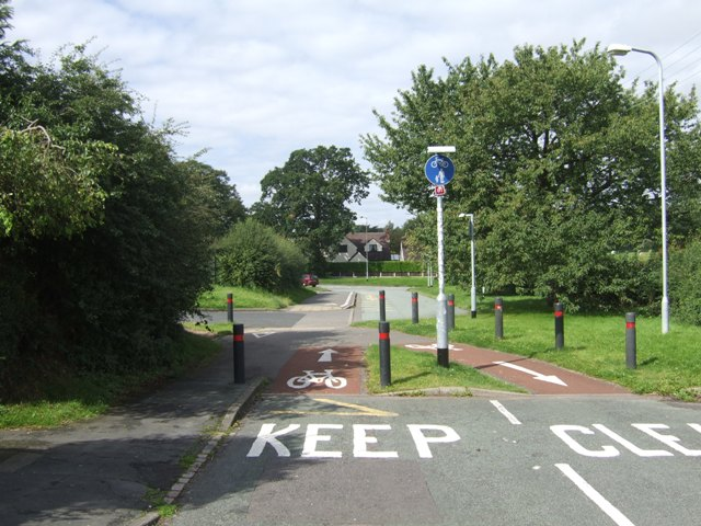 The end of NCN 81 in Bilbrook