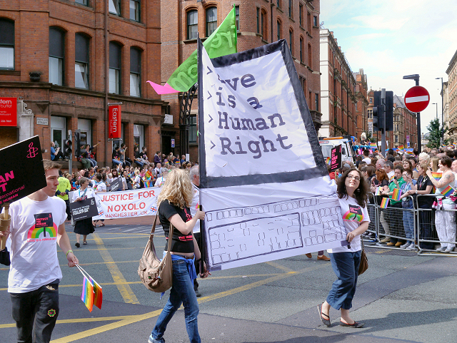 """Love Is A Human Right"" , Manchester Pride Parade 2012"