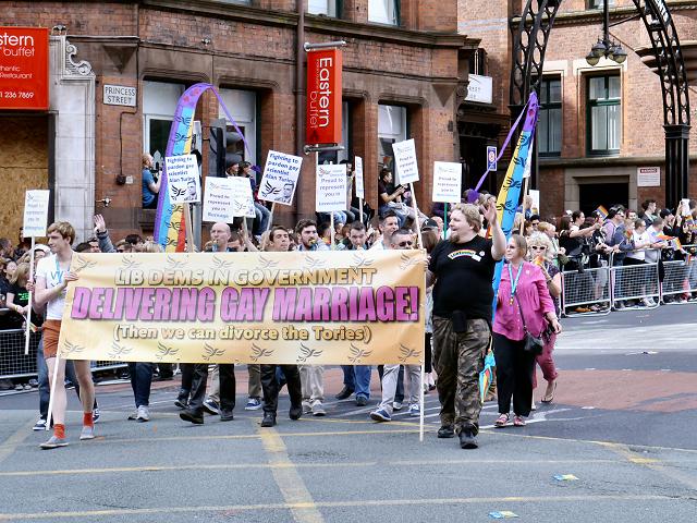 Lib Dems, Manchester Pride Parade 2012