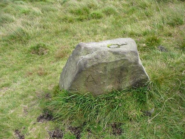 Boundary stone on Erringden Moor