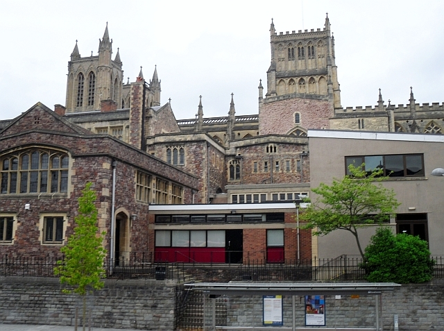 School buildings and Cathedral from Anchor Road