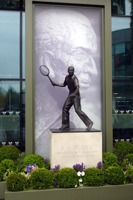 Fred Perry statue at Centre Court, Wimbledon