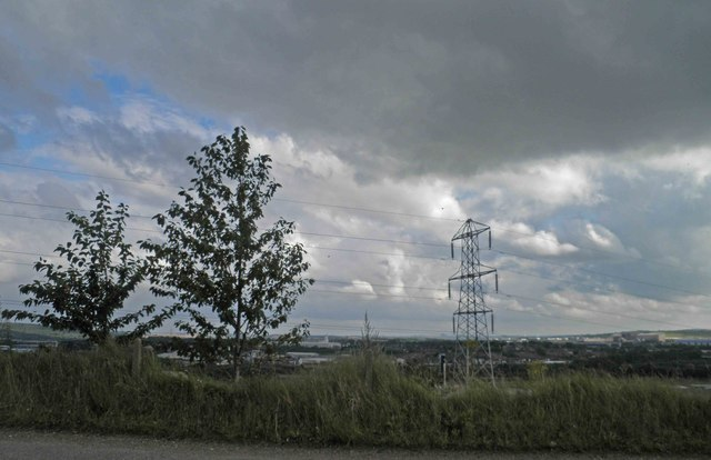 Pylon above the Don Valley from Meadowhall Road