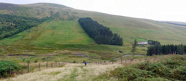 Descending to the College Burn above Mounthooly