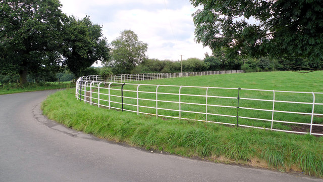 Iron fencing on Fanshawe Lane near Henbury Smithy