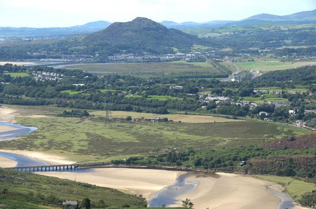View towards Porthmadog from Moel Tecwyn