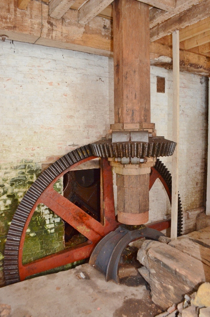 Bourne Mill - pit wheel and wallower
